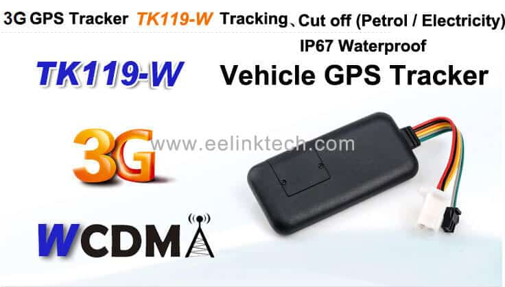 TK119-W WCDMA GSM 3G vehicle tracking system waterproof