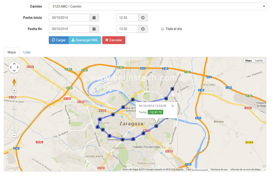 monitor the vehicle location at all times and reply journey to manage driver efficiency